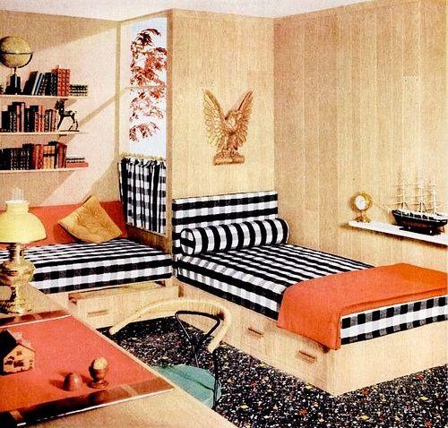 Tartan Bedroom Accessories Bedroom Vintage Decorating Ideas Bedroom Curtains Inspiration Bedroom Furniture Latest Designs: 93 Best Ideas About 50's Interior/exterior Design On