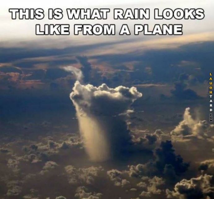 What rain looks like in the air