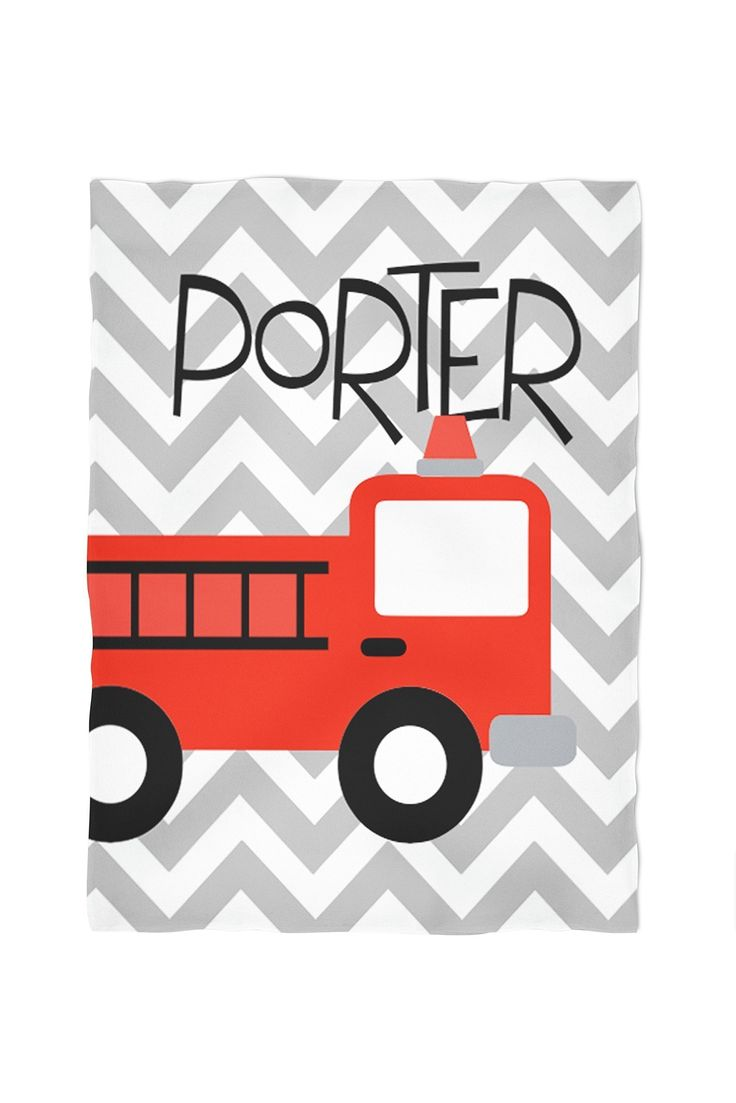 Firetruck Personalized Throw Blanket. Cuddle up with one of our personalized, super soft blankets. You choose between our standard, soft fleece or the super soft, plush furry fleece. Both are printed using water based eco friendly dyes. They come in three sizes: small (40x30), medium (60x50) or large (80x60). The standard fleece is printed on one side, as the plush is printed on both. All are machine washable and sure to be a family favorite.
