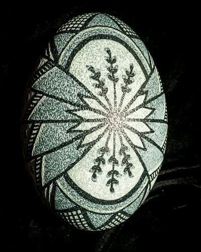 Etched Emu by Theresa--emu eggs have 3 color layers to work with....lovely eggs that come in variations of shell color.