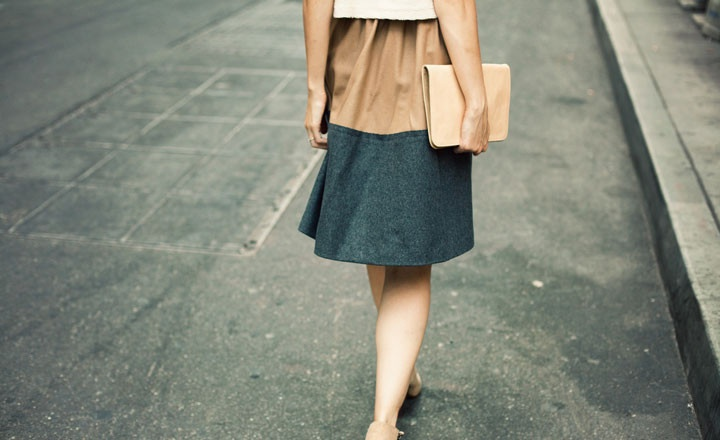 Also, I love the model's skirt. // Bare via Of a KindGorgeous Fashion, Combinations, Fashion Conscious, Edge, Style Note, Models Skirts, Style Pinboard, Easy Folding, Daily