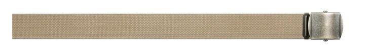 """Vintage 1.5"""" Wide Cotton Web Belt Belts - Khaki, OD, Black w/ Brass Buckle"""