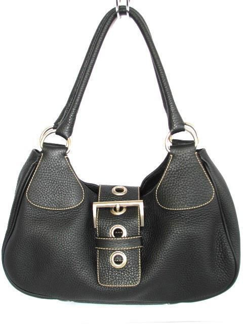 1d95219c4499 Authentic Prada Pebble Leather Danio Shoulder Bag