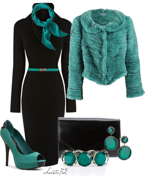 """Teal Scarf 2"" by christa72 on Polyvore"