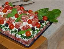 Enkel italiensk smörgåstårta: Färdiga Ingredien