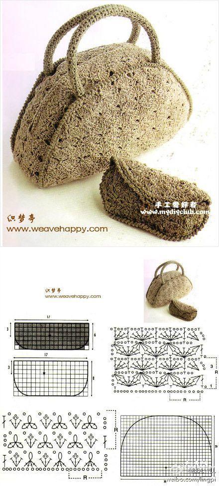 FIFIA CROCHETA blog de crochê : bolsa de croche com grafico Vários gráficos neste blog!