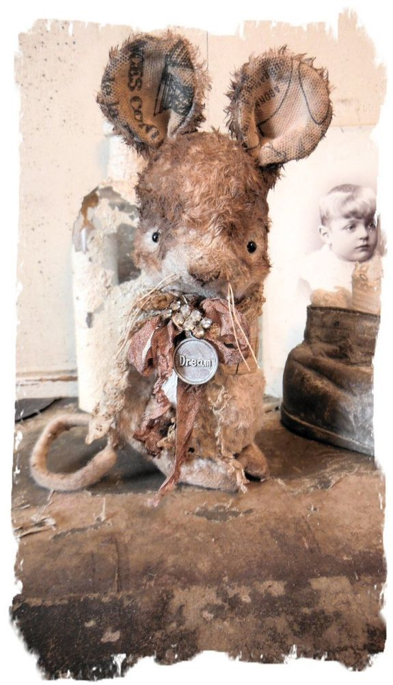 Antique Style ★Dream~ Shabby CHUBBY MOUSE vintage NEW DESIGN ★by Whendi Bears