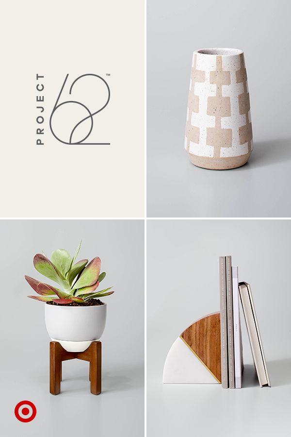 From planters to bookends to vases and more, find lots of decor from Project 62 under $30. Proof that modern design doesn't have to come at a premium price. Only at Target.