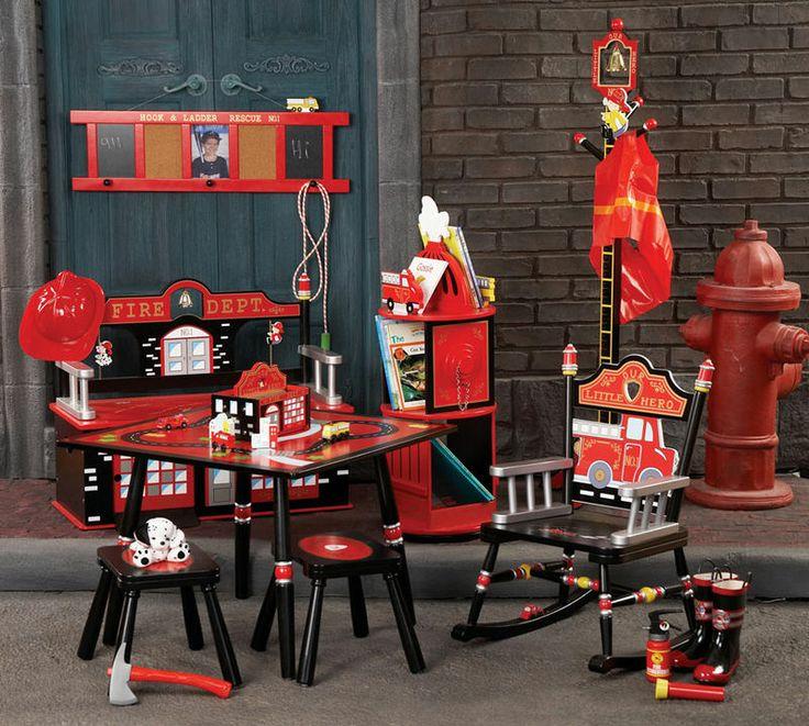 firetruck nursery | Levels of Discovery Fire Engine Rocker | My Urban Child -
