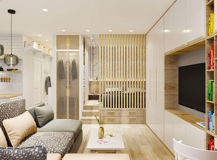 A kis 37 négyzetméteres, egyszobás lakás tulajdonosai kényelmes, teljesen felszerelt, kellemes hangulatú otthonra vágytak. A lakberendező teljesítette kívánságukat, az alábbi képeken megnézhetjük, hogyan képzelte el lakásuk praktikus és otthonos kialakítását a lehetőségek kihasználásával.