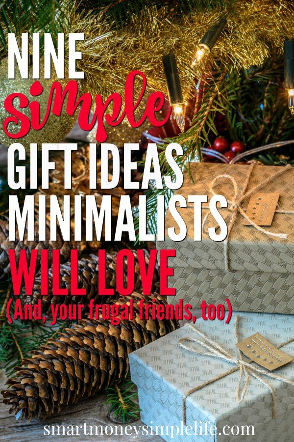 Minimalist Gift Ideas | Nine simple gift ideas your frugal and minimalist friends and family will love.
