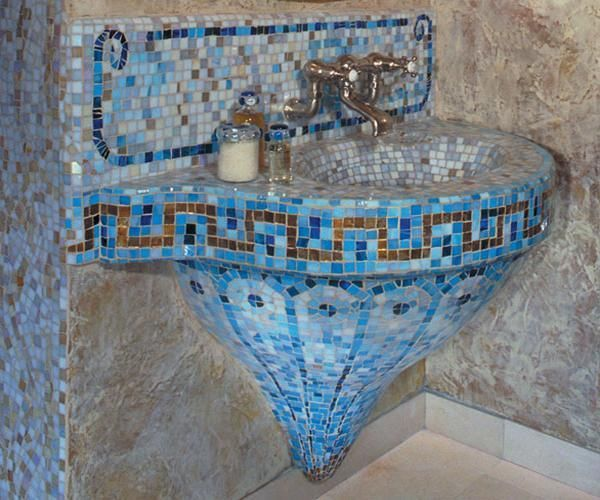 These stunning mosaic tile #Bathroom Sinks will make you want to do more with your own sink!