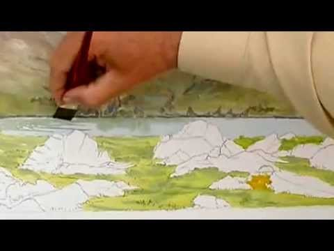 ▶ Learn to Paint with Dermot Cavanagh, Teaching John Craven in Dingle, Kerry. - YouTube