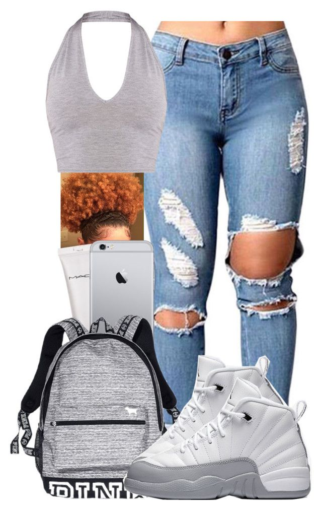 """.....✊"" by pimpcessjayyy ❤ liked on Polyvore featuring MAC Cosmetics, Victoria's Secret and NIKE"