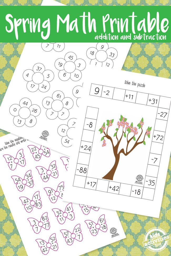 spring math pack math spring and free printable