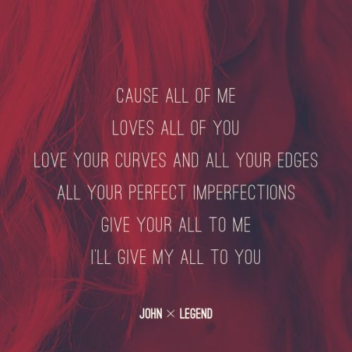 John Legend - All of me | .:sing me a song:. | Pinterest ...
