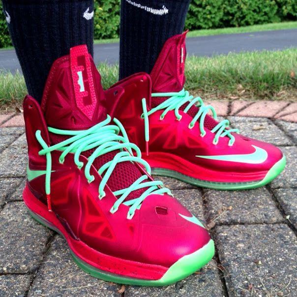 552dbe6d0fce Nike LeBron X Christmas by  Andrew Gossy  nike  lebron  sneakers ...