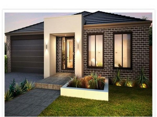 Architecture,Classic Modern Front Porch Designs With Dark Brown Brick Stone Wall On Combined Enchanting Glass Window And Nice Concrete Beige Pillar Complete With Nice Wall Mounted Lamp Also Cool Brown Garage Door Plus Fresh Green Front Yard For Alluring Facade House Design,Innovative Front Porch Design Ideas For Your Homes