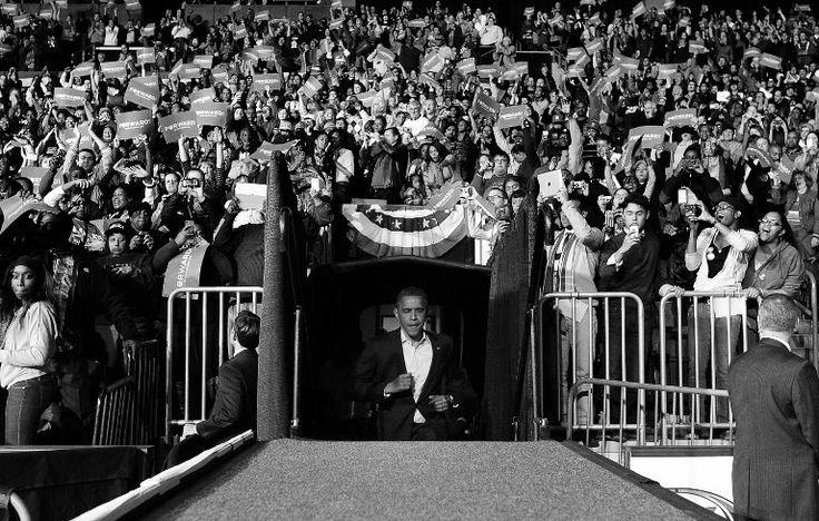 Obama entre en scène