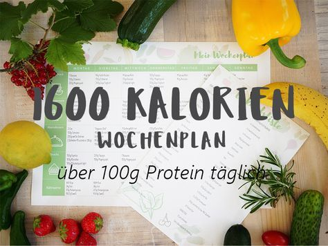 Kostenloser 1600 Kalorien Wochenplaner Eine Woche vorgegebene Lebensmittel, täglich 1600 Kalorien und über 100g Eiweiß. #freeby #ernährungsplan #abnehmplan #wochenplan #diet #mealplanner #kostenlos