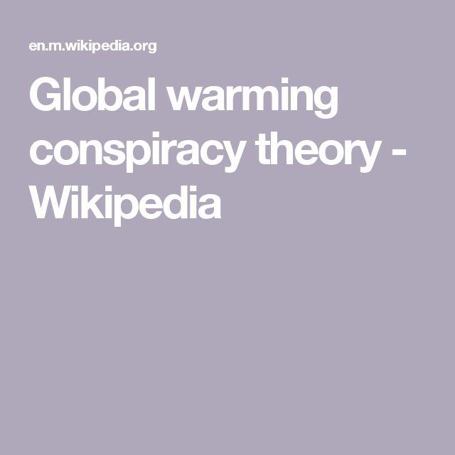 Global warming conspiracy theory - Wikipedia