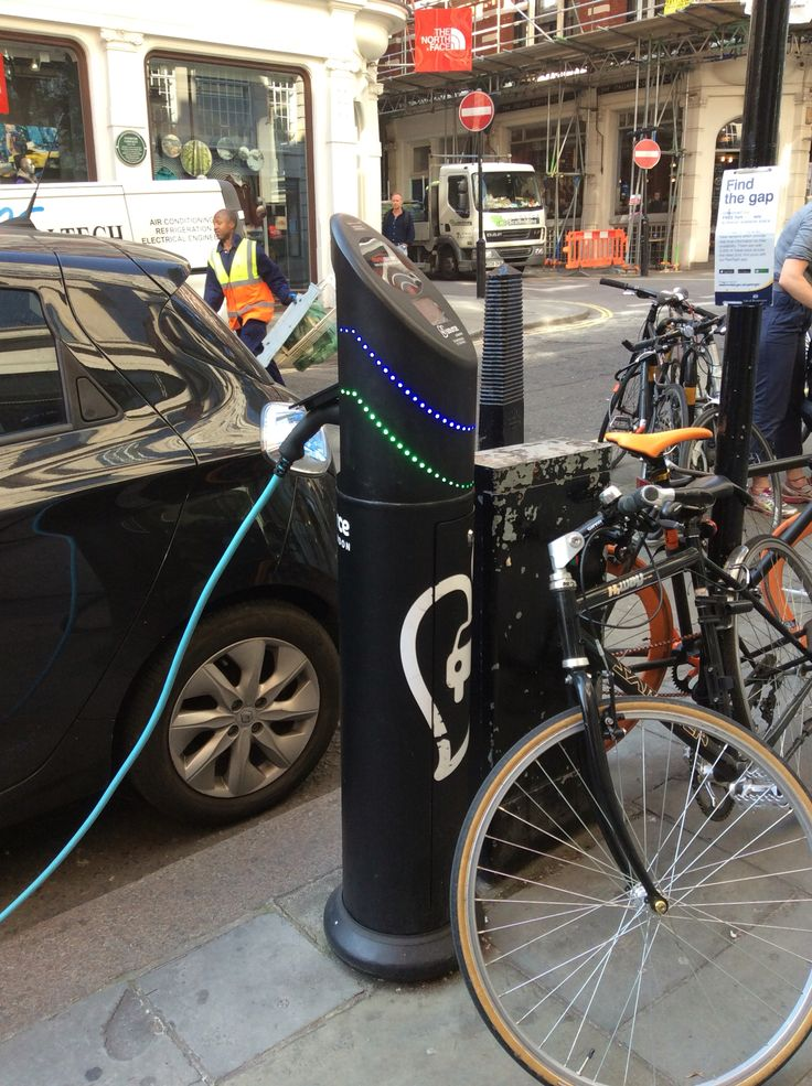 Identifying an electric car charging point near Covent