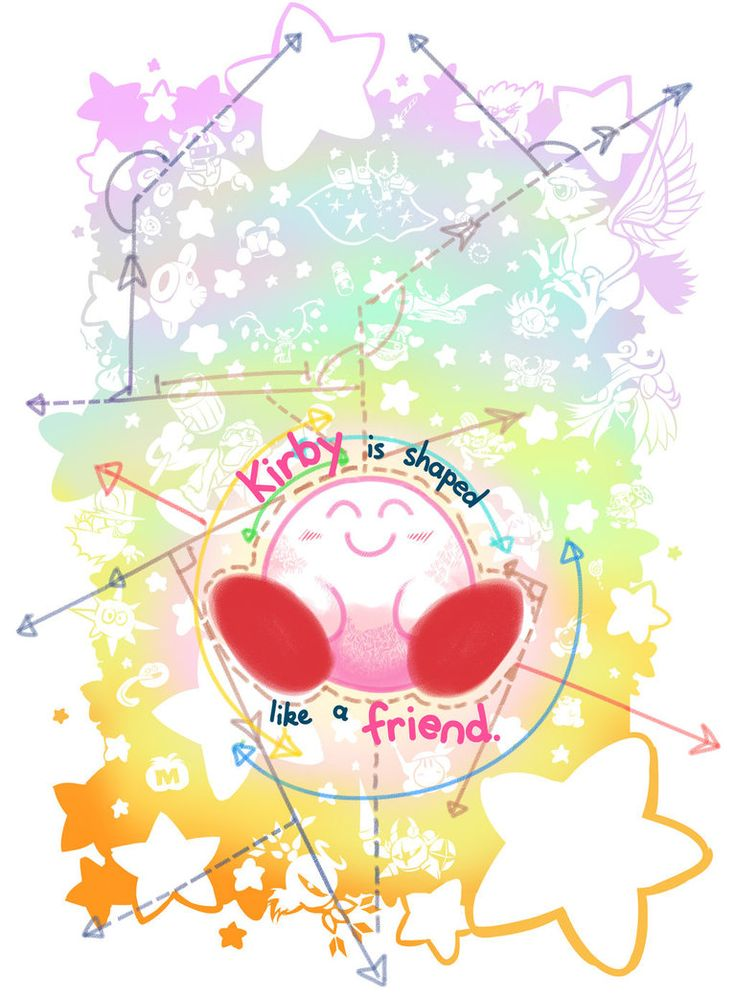 Kirby is shaped like a friend by Triple-Q. I don't know why, but this is so heartwarming♡
