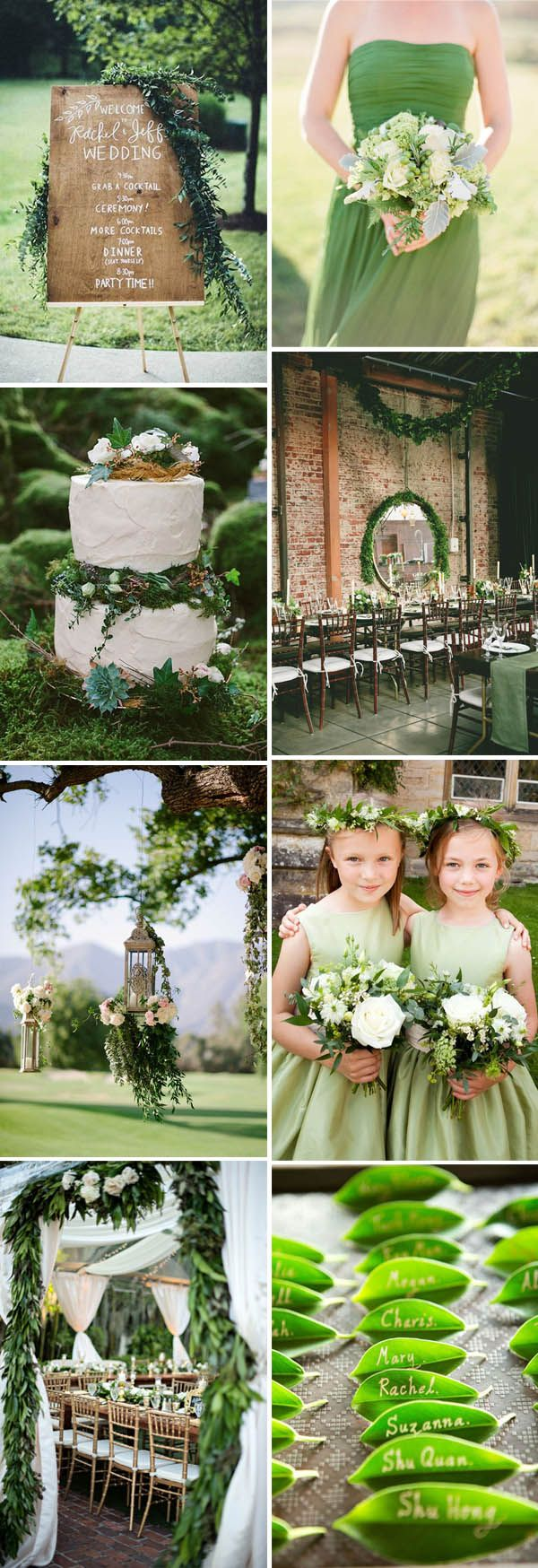 Lovers of green weddings? If you are still planning for your romantic greenery wedding in 2016, this gorgeous green wedding ideas collection is surely a big inspiration