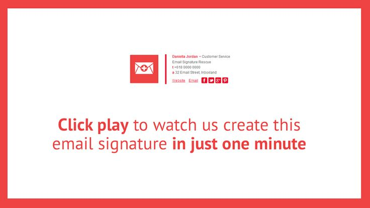 Want to watch us create an awesome new HTML email signature in ...