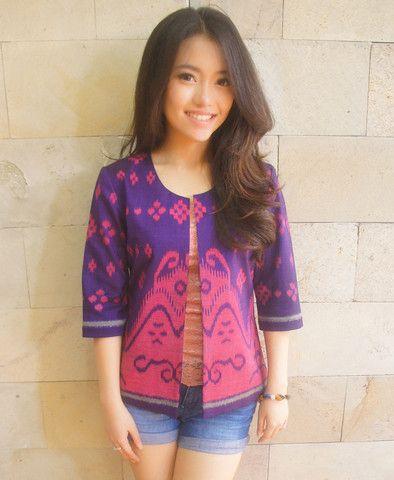 Tenun Classic Blazer Purple Pink | batik kultur