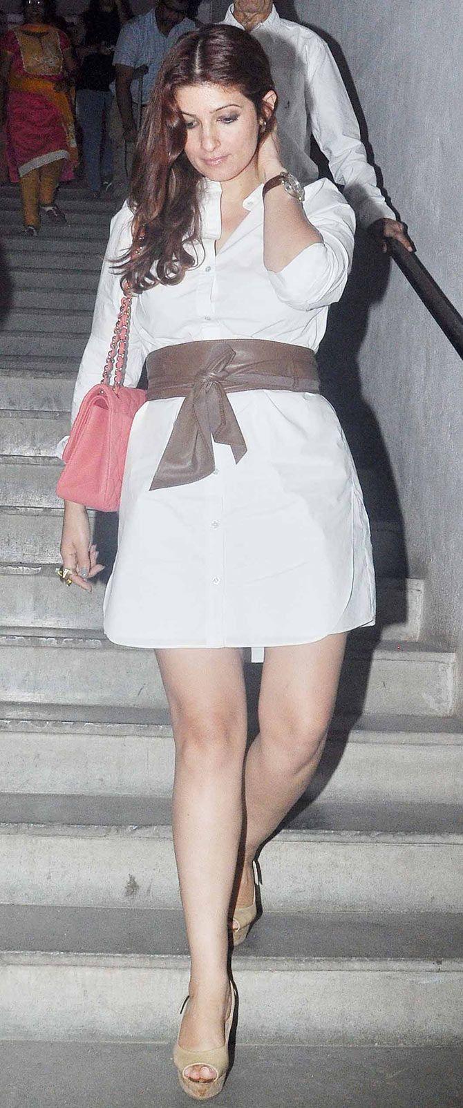 Twinkle Khanna to watch the play 'Mera Woh Matlab Nahi'. #Bollywood #Fashion #Style #Beauty
