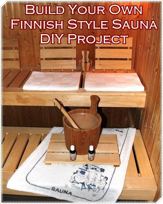 "Build Your Own Finnish Style Sauna DIY Project Homesteading  - The Homestead Survival .Com     ""Please Share This Pin"""