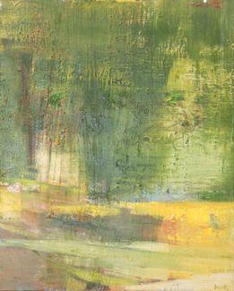 Original Painting Oil on Canvas Abstract Art Green Pierre Debatty #Art #Abstract #BelgianArtists #Binnovart #ForSale