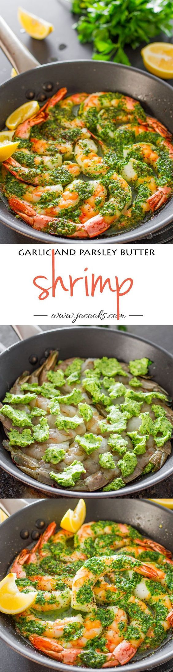 Garlic and Parsley Butter Shrimp: