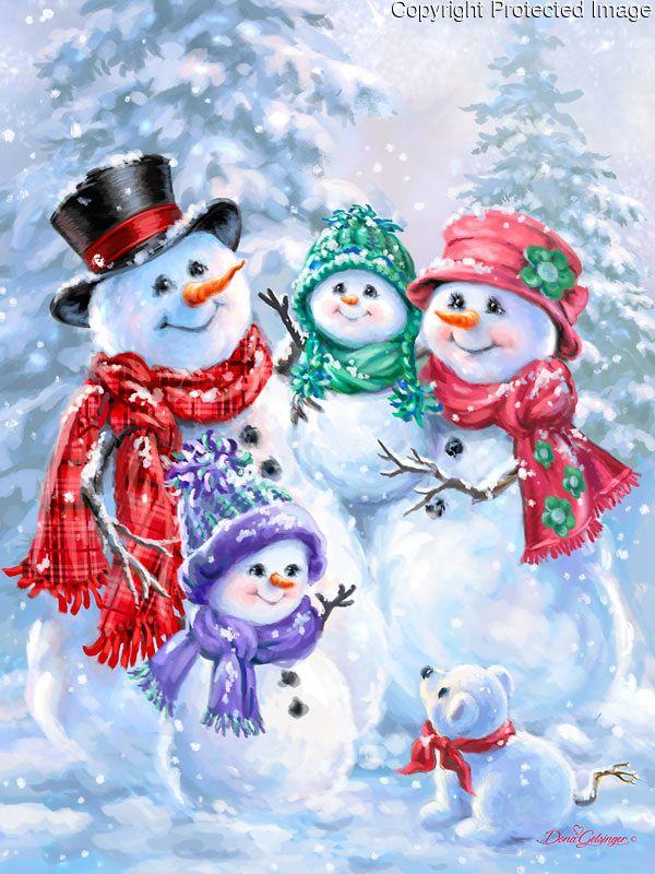 1540a - Snowflake Family - snowbg.jpg | Gelsinger Licensing Group
