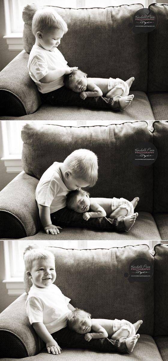Neugeborene und Geschwister Fotoidee