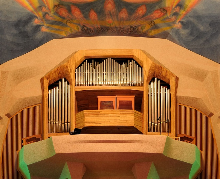 Goetheanum Pipe Organ with Gallery -- The Goetheanum (named after Johann Wolfgang von Goethe) is a building in Dornach, Switzerland, designed by Rudolf Steiner, the founder of Anthroposophy. The building is used for various events including concerts, theatre performances and eurythmy peformances.