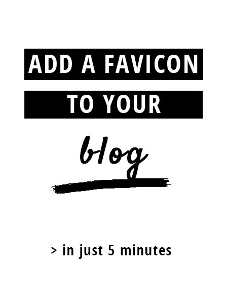 To have a favicon for your blog seems just to be a tiny detail. But it's the details that make your brand or blog stand apart from others. This tutorial shows you how to create and add a custom favicon to your blog | thatistheday.com