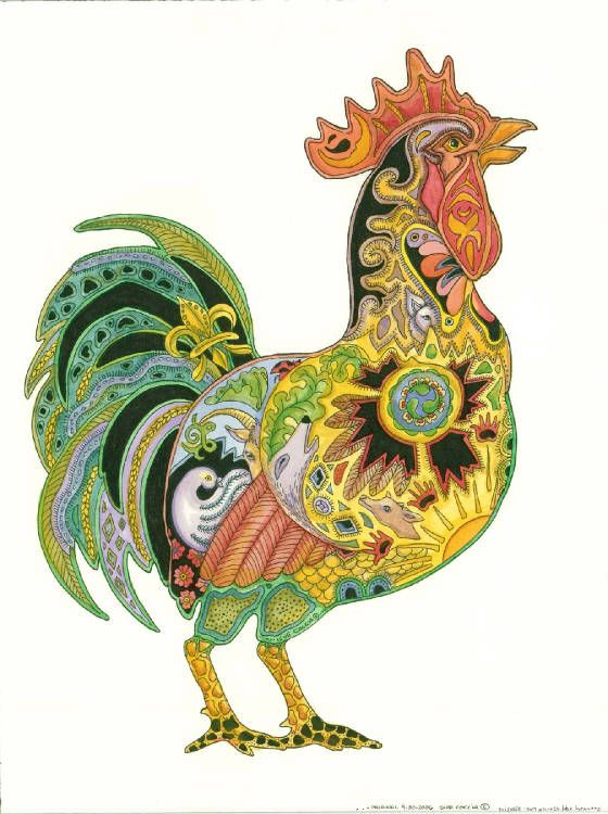 rooster with pizazz