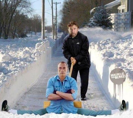 Problème de neige ? Jean-Claude et Chuck à la rescousse ! :-D