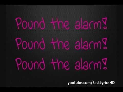 Nicki Minaj - Pound The Alarm (Lyrics on Screen)