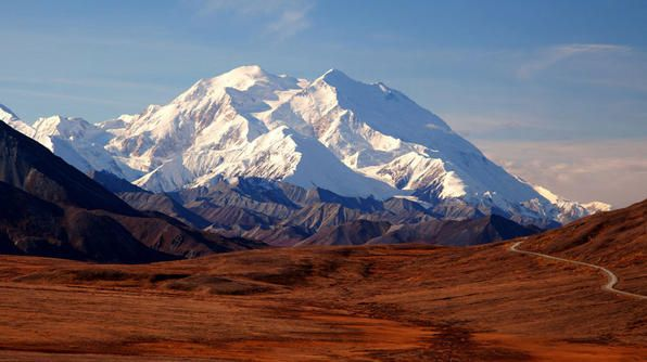 The highest mountain peak in the United States, Mount McKinley in Alaska is regularly climbed with 58% of climbers reaching the top.