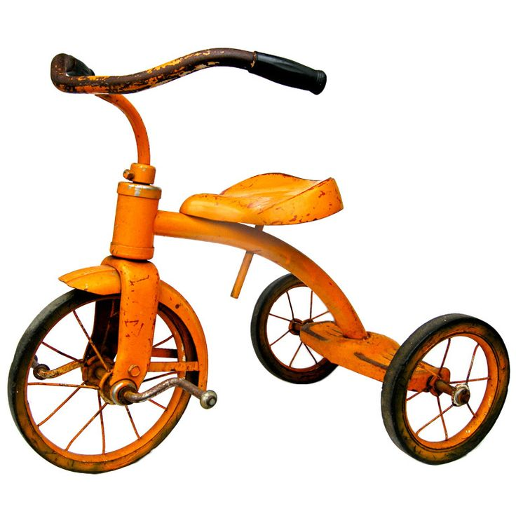 Vintage Tricycle: Tangerine Dream, Vintage Toys 1940, Vintage Tricycle, Collectibles Toys On, Toys Vintage, Speelgoed Toys, Color Palette, Bicycles Tricycles