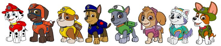 This is the Paw Patrol. Chase - Police Pup Marshall - Fire Pup Skye - Aviation Rocky - Recycling Rubble - Construction Zuma - Water-Rescue Pup [UPDATE] - Everest, the Mountain Ranger pup has been a...