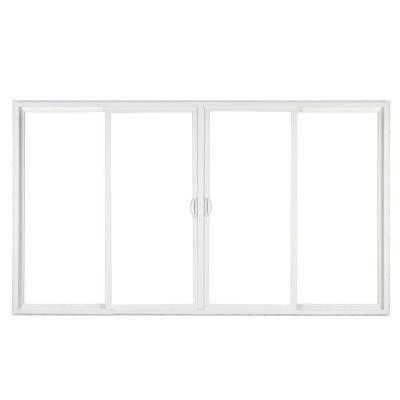 SIMONTON 144 In X 80 In White 4 Panel Contemporary