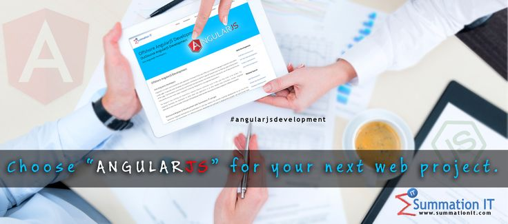 Choose #angularjs #development for your next #web project. #AngularJS extends #HTML with new attributes.#AngularJS is perfect for Single Page Applications (SPAs) etc. There are many benefits with #angularjs #development. Our skilled in-house #angularjs team will help you for your #web project. Talk to us today, For #angularjs #development, Demo, Pricing and many more.   Read more at : http://www.summationit.com/angularjs-development