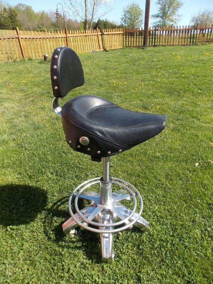 BIKER Motorcycle Style Seat Pneumatic Bar Stool   Shop Stool MANCAVE GARAGE   UnbrandedBest 25  Shop stools ideas on Pinterest   Cool woodworking  . Garage Chairs Stools. Home Design Ideas