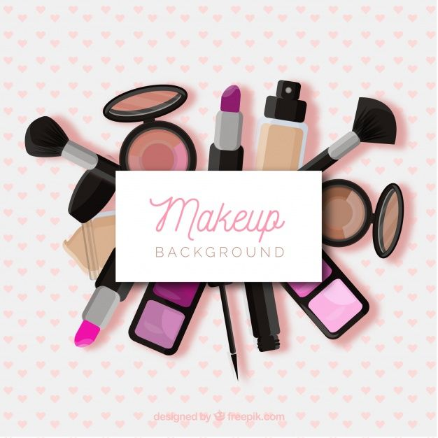 Download Make Up Background With Realistic Cosmetics For Free Makeup Logo Makeup Clipart Makeup Backgrounds