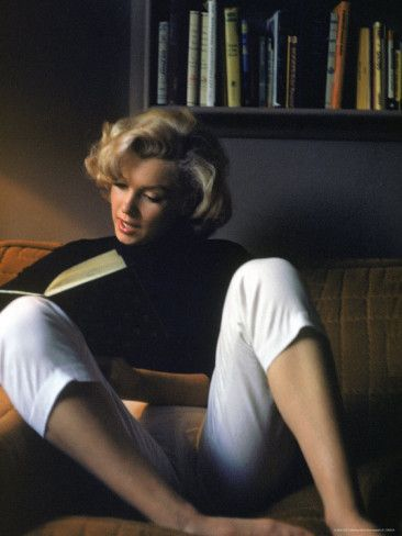 Marilyn Monroe Reading at Home...her beauty
