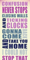 Clocks by Coldplay. Lyric pic by i-maginatif